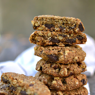 Vegan Walnut Chocolate Chunk Oatmeal Cookies