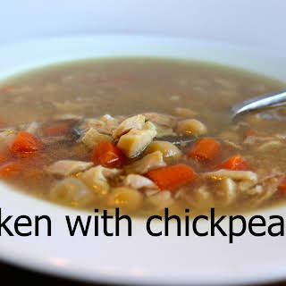 Chicken Soup With Chickpeas.