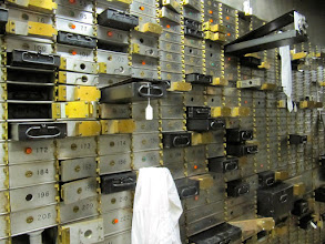 """Photo: Bits of """"Anna and Tom's"""" history were placed within the safety deposit boxes"""