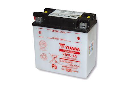 YUASA MC-batteri YB 9 L-A2 utan syrapack