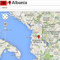 Albania map icon