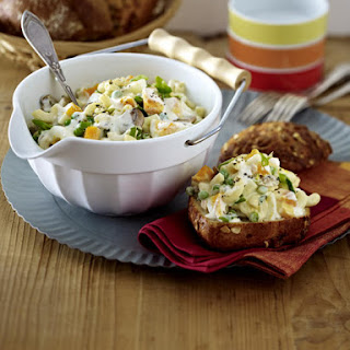 Pasta and Egg Salad.