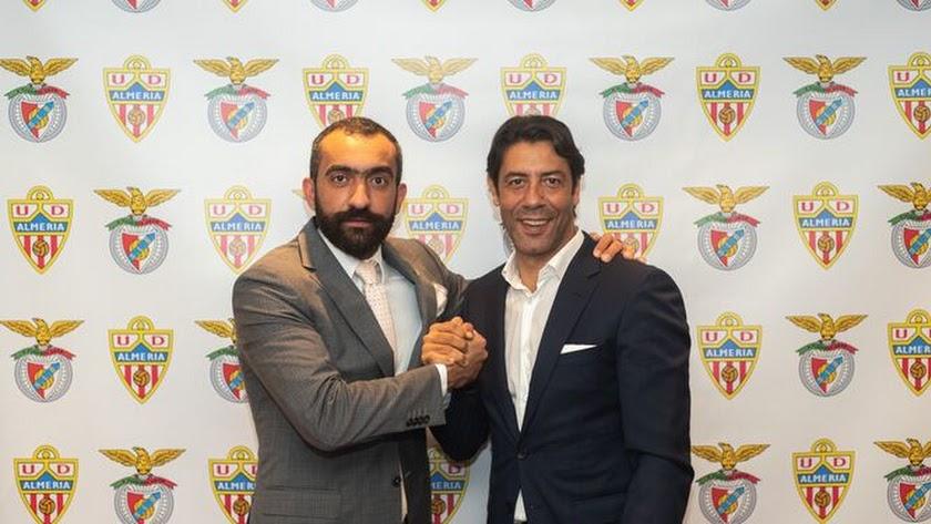 Mohamed El Assy y Rui Costa, el día que fue traspasado Darwin Núñez.