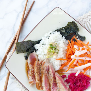 Ahi Tuna Sushi Roll Bowl.