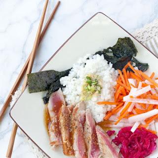 Ahi Tuna Sushi Roll Bowl.