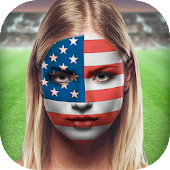 Flag Face Paint Photo Editor