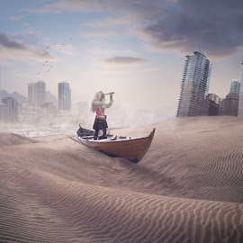 Finding my way by Malcolm Hare - Digital Art Places (  )
