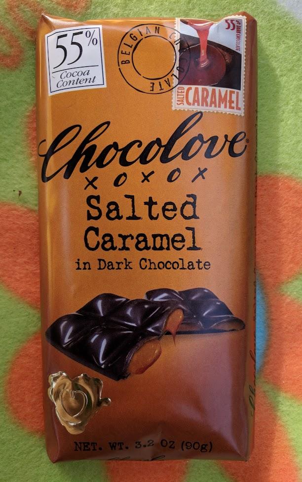 55% chocolove salted caramel bar