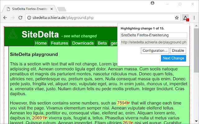 SiteDelta Highlight