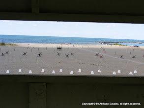 Photo: Beach head view from German bunker on bluff.