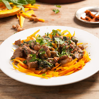 Beef Massaman Curry with Squash Noodles & Peanuts Recipe