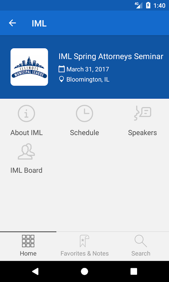 IML Conference- screenshot