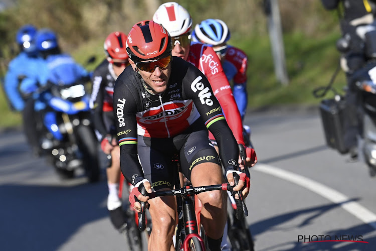 """Philippe Gilbert is gevallen op training: """"Niet de beste voorbereiding voor de Waalse Pijl en Luik-Bastenaken-Luik, maar het houdt mij niet tegen!"""""""