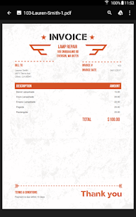 100 Free Invoice PDF Templates- screenshot thumbnail