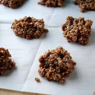 No Bake Chocolate Oatmeal Cookies with Peanut Butter.