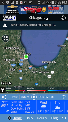 WGN Weather screenshot for Android