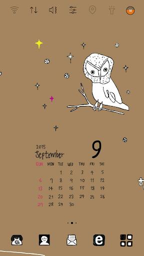 拉拉感性日历九月_加油吧 桌面主题
