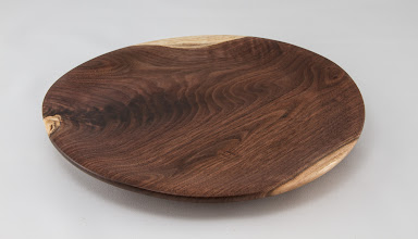 "Photo: Tim Aley 9"" x 1"" plate [walnut]"