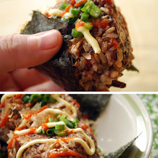 Stuffed Avocado Yaki Onigiri