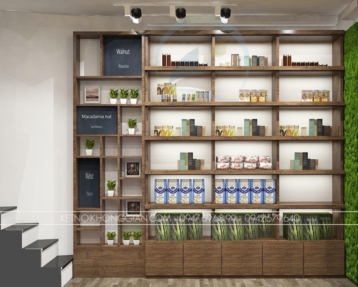 thiết kế cửa hàng thực dưỡng hiện đại