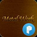 Gold Metal Launcher Theme icon