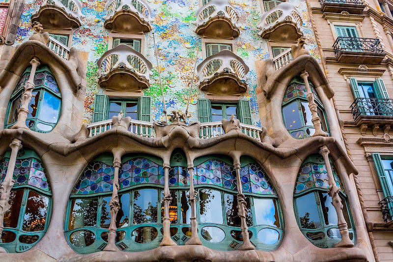 Casa Batlló, a renowned building in downtown Barcelona, was one of Antoni Gaudí's masterpieces.