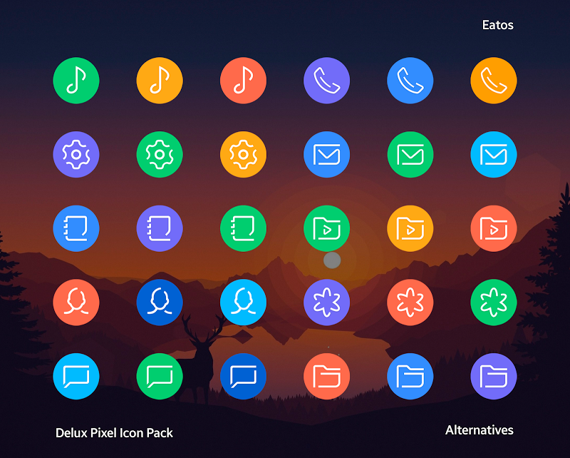 Delux - Pixel Icon pack Screenshot 11