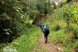 Photo: Off on mountain trails with the FCT crew.