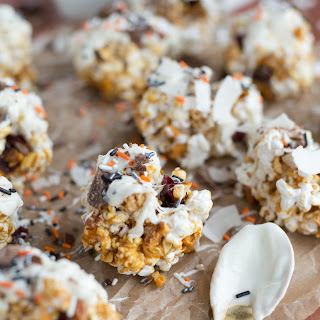 5 Ingredient Healthy Caramel Popcorn Balls