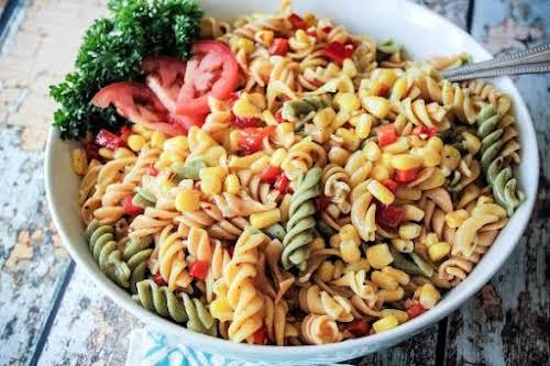 """Lite Tri-Color Pasta Salad""""This to me is one of the perfect summer..."""