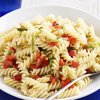 Fusilli, Red Pepper, and Pine Nut Salad