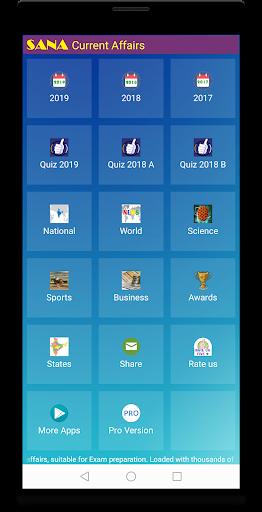 Current Affairs 2019 (eBook & Quiz) 2.08 screenshots 1