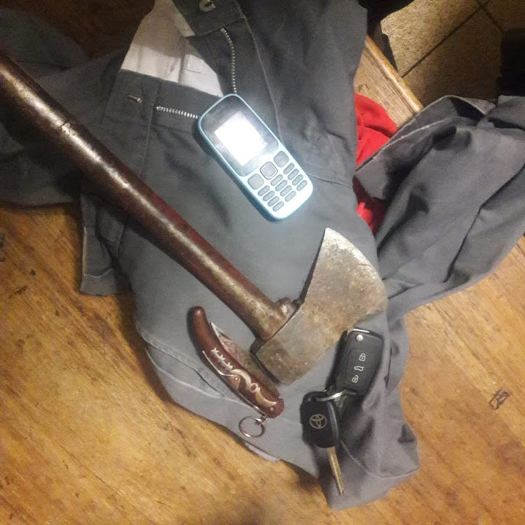 An Okapi knife and axe were among the items seized by police from suspects believed to have murdered a Limpopo man, after posing as buyers for a motorbike he wanted to sell.