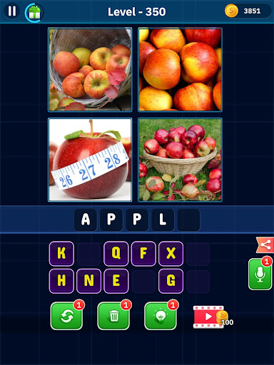 4 Pics 1 Word Pro - Pic to Word, Word Puzzle Game  screenshots 16