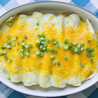 Easy Low Carb Cream Cheese Enchiladas.