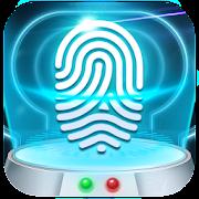 Earth fingerprint style lock screen for prank