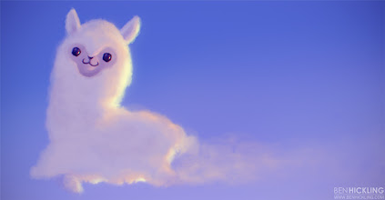 Photo: This is what Space Alpacas turn into once they're back in the Earth's atmosphere! You didn't think vapour trails in the sky were left by planes, did you?
