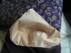 Photo: I added extra support by extra inside-cup with dart instead of gathers. fabric is stiff, woven