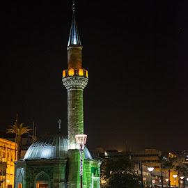 Konaq mosque by Grigoris Koulouriotis - Buildings & Architecture Places of Worship ( night photography, nightshot, mosque, konaq, night, square, turkey, place, night shot, worship, izmir )