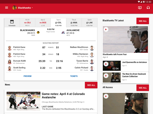 NHL Screenshot