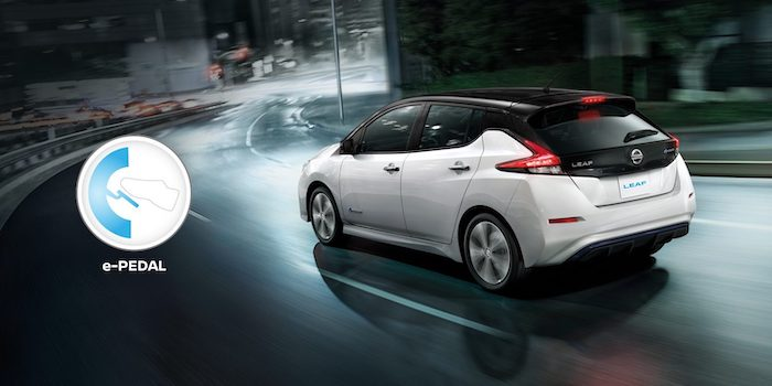 ระบบ e-Pedal จะช่วยให้การขับ Nissan Leaf มีความสนุกมายิ่งขึ้น