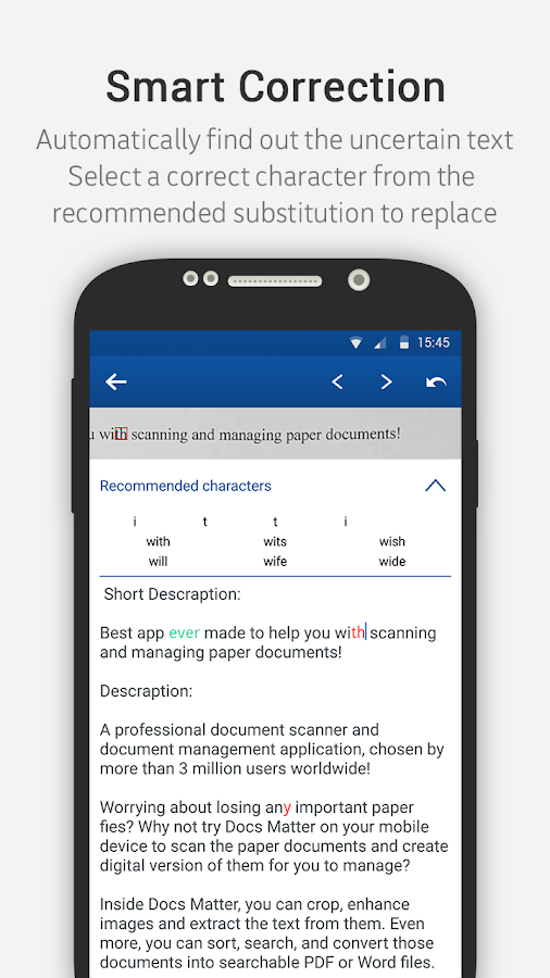 Docs Matter - Mobile OCR- screenshot