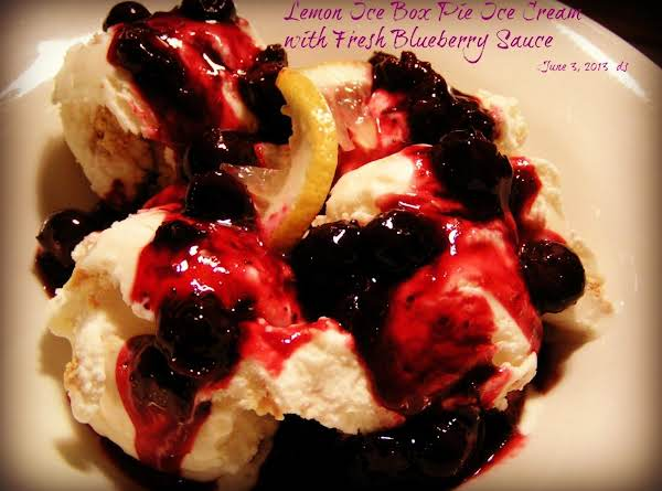 Lemon Ice Box Pie Icecream W/fresh Blueberry Sauce Recipe