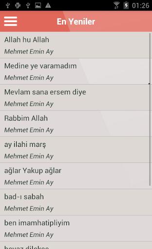 Mehmet Emin Ay ilahileri Dinle