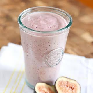 Fresh Fig Greek Yogurt Smoothie.
