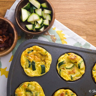 Bacon, Egg, Zucchini, and Cheese Muffins.