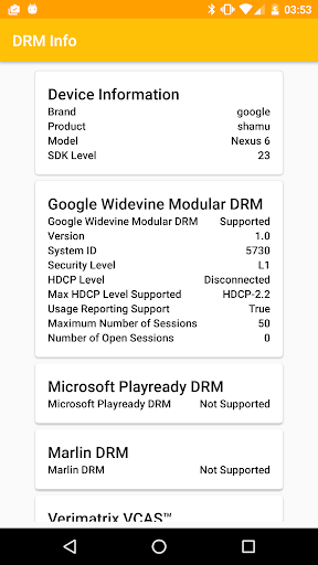 DRM Info screenshot 2