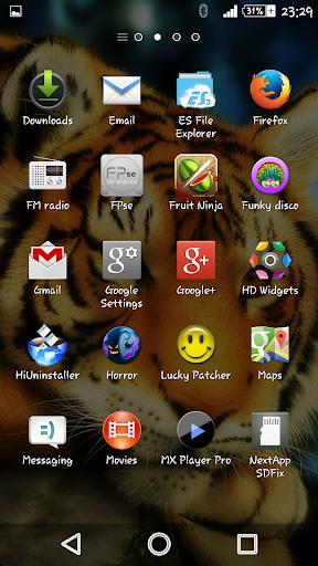 Silent Beast Xperien Theme screenshot 1