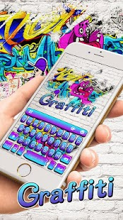 Keyboard - Graffiti Swag Emoji Free Theme - náhled