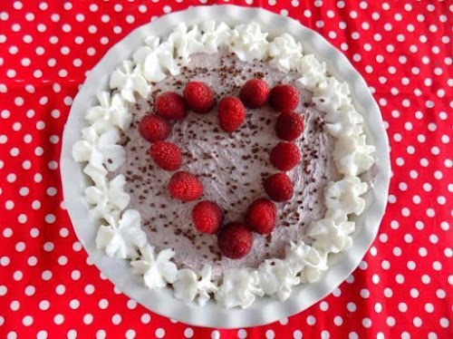 "Sweetheart Raspberry Cream Pie ""I just made this and wow it is..."